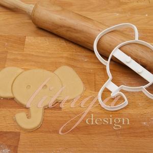 Elefánt süteménykiszúró (fej) - Állatfej sütemény kiszúró, kekszforma, linzer, Otthon & Lakás, Sütikiszúró, Konyhafelszerelés, Állatos keksz kiszúró sorozatunk következő tagja: most aranyos elefánt fejet formázó sütemény/keksz ..., Meska