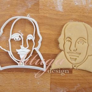 Shakespeare sütemény linzer keksz kiszúró forma - mézeskalács forma, Konyhafelszerelés, Otthon & lakás, Fotó, grafika, rajz, illusztráció, Mindenmás, Shakespeare-t formázó sütemény kiszúró formát készítettünk az irodalom szerelmeseinek.\n\nKülönleges a..., Meska