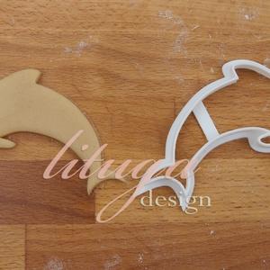 Delfin süteménykiszúró, Otthon & Lakás, Sütikiszúró, Konyhafelszerelés, Állatos sorozatunk következő tagja: delfint formázó sütemény kiszúrót / szaggatót készítettünk.  8 c..., Meska