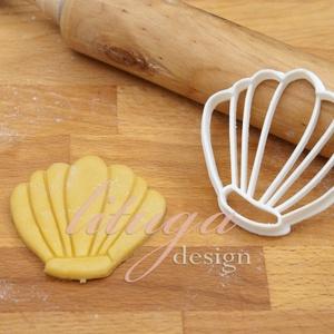 Kagyló süteménykiszúró, linzer, mézeskalács forma, keksz forma (lituga) - Meska.hu