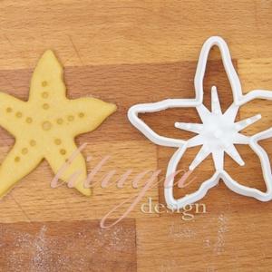 Tengeri csillag süteménykiszúró, linzer, mézeskalács forma, keksz forma, Otthon & Lakás, Sütikiszúró, Konyhafelszerelés, Tengeri csillagot formázó sütemény kiszúró / szaggató forma.   Ideális kellék tengerparti témájú bul..., Meska