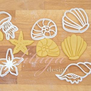 Tengeri szett süteménykiszúró, linzer, mézeskalács forma, keksz forma, Konyhafelszerelés, Otthon & lakás, Gyerek & játék, Mindenmás, Mézeskalácssütés, Tengeri formákat tartalmazó sütemény mézeskalács kiszúró / szaggató , linzer, keksz forma szett. \n\nA..., Meska