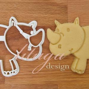 Orrszarvú sütemény kiszúró forma, Konyhafelszerelés, Otthon & lakás, Gyerek & játék, Mindenmás, Mézeskalácssütés, Orrszarvú sütemény kiszúró forma, linzer, keksz, marcipán, fondant szaggató forma.\n\nKb. 8 cm\n\nA sike..., Meska