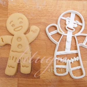 Mézeskalács emberke sütemény linzer keksz kiszúró forma - mézeskalács forma, Konyhafelszerelés, Otthon & lakás, Fotó, grafika, rajz, illusztráció, Mindenmás, Mézi kb. 8 cm magas  :)\n\n\nA siker érdekében fontos, hogy kevésbé puffadó tésztával dolgozzunk, továb..., Meska