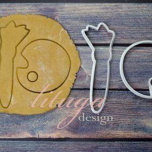 Festőpaletta és ecset sütemény linzer keksz kiszúró forma szett, mézeskalács forma, Otthon & Lakás, Sütikiszúró, Konyhafelszerelés, Festékpalettát és ecsetet formázó sütemény kiszúró formákat készítettünk a festés szerelmeseinek.  A..., Meska