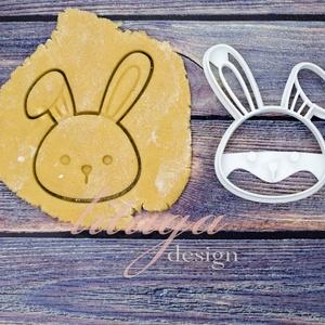 Húsvéti nyúl, nyuszifej süteménykiszúró, Otthon & Lakás, Sütikiszúró, Konyhafelszerelés, Bájos nyuszi, nyúl fej sütemény, keksz, linzer kiszúró forma, a közelgő húsvét alkalmából készítettü..., Meska