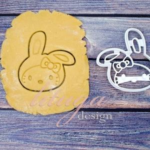 Húsvéti cica nyuszisapkában kekszkiszúró, süteménykiszúró, sütikiszúró, keksz, linzer kiszúró forma, mézeskalács, Otthon & Lakás, Konyhafelszerelés, Sütikiszúró, Fotó, grafika, rajz, illusztráció, Mindenmás, A bájos kiscica a közelgő húsvétra nyuszisapkát öltött :) \n\nGyermek szülinapi zsúrokra ideális, gyer..., Meska