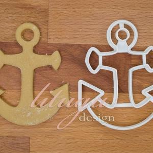 Horgony süteménykiszúró, vasmacska süteménykiszúró, linzer, mézeskalács forma, keksz forma, Otthon & Lakás, Sütikiszúró, Konyhafelszerelés, Horgony sütemény kiszúró / szaggató forma.   Ideális kellék tengerparti témájú bulihoz, vagy hajózás..., Meska