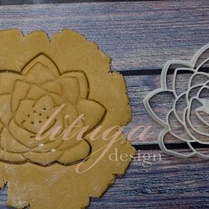 Vízililiom, lótusz virág keksz linzer kiszúró forma, szaggató, Otthon & Lakás, Sütikiszúró, Konyhafelszerelés, Vízililiom, lótusz virág alakú  sütemény keksz linzer kiszúró forma, szaggató  Szép méretes darab le..., Meska