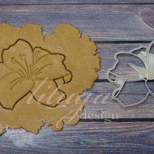 Liliom virág keksz linzer kiszúró forma, szaggató, Otthon & Lakás, Sütikiszúró, Konyhafelszerelés, Liliom,  virág alakú  sütemény keksz linzer kiszúró forma, szaggató  Szép méretes darab lett, 11,5 c..., Meska
