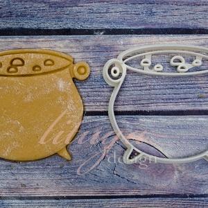 Boszorkány üst  Halloween sütemény linzer keksz kiszúró forma, Otthon & Lakás, Sütikiszúró, Konyhafelszerelés, A közelgő Halloween alkalmából készítettük ezt a boszorkány üstöt formázó sütemény linzer keksz kisz..., Meska