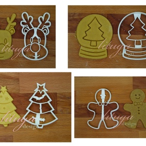 AKCIÓ 4db-os karácsonyi süteménykiszúró szett 5: Rénszarvas, hógömb, fenyőfa és Mézi mézeskalács szaggató forma, Konyhafelszerelés, Otthon & lakás, Dekoráció, Ünnepi dekoráció, Karácsony, Mindenmás, Mézeskalácssütés, Ezek a formák egyenként is kaphatóak boltunkban, de szerettük volna kedvezőbb áron kínálni azon vásá..., Meska