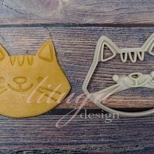 Cicafej süteménykiszúró forma - macska sütemény forma, cicamica (lituga) - Meska.hu