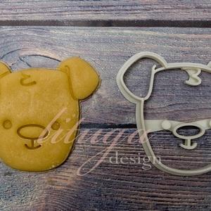 Kutya süteménykiszúró forma (csak fej) sütemény forma, kutyabarát, Otthon & Lakás, Sütikiszúró, Konyhafelszerelés, Kölyökkutya fejet formázó sütemény kiszúró / szaggató, egyszerű, de cuki grafikával. Gyermek szülina..., Meska