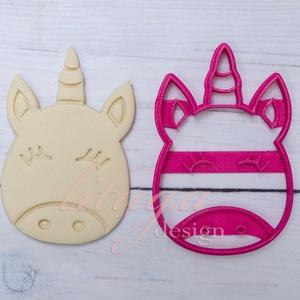 Unikornis süteménykiszúró forma - mézeskalács forma, unikornis fej belső mintával (7,5 cm)  (lituga) - Meska.hu