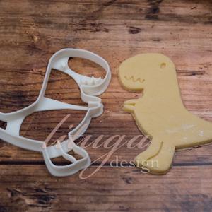 Dínós süteménykiszúró forma - T-rex, Otthon & Lakás, Sütikiszúró, Konyhafelszerelés, Egy egész csorda jópofa (süti)T-rex várja, hogy egy csapat gyerkőcöt szórakoztasson a következő szül..., Meska