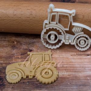 Traktor süteménykiszúró - Járművek, traktor, Sütikiszúró, Konyhafelszerelés, Otthon & Lakás, Mindenmás, Mézeskalácssütés, Járműves sorozatunk következő tagja: traktort formázó sütemény kiszúró / szaggató forma. \n\nGyermek s..., Meska