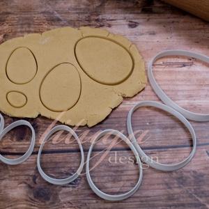 Tojás süteménykiszúró,  Húsvéti tojás sütemény linzer keksz kiszúró forma, Otthon & Lakás, Sütikiszúró, Konyhafelszerelés, A közelgő Húsvétra készültünk ezzel a tojás szettel: 7 db tojás alakú sütemény kiszúró, szaggató for..., Meska