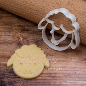 Húsvéti bárány 2. bárányfej süteménykiszúró - Húsvéti sütemény linzer keksz kiszúró forma, Konyhafelszerelés, Otthon & lakás, Mindenmás, Mézeskalácssütés, Húsvétra is nagyszerű ez az aranyos bárány fejet formázó sütemény kiszúró / szaggató forma, amely kb..., Meska