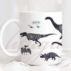 Dinoszaurusz bögre - Vagány dínós bögre (DINO01), Otthon & lakás, Konyhafelszerelés, Bögre, csésze, Férfiaknak, Konyhafőnök kellékei, Fotó, grafika, rajz, illusztráció, Mindenmás, Egyedi dínós bögre a dinoszauruszok kedvelőinek. \n\nA grafika a bögre mindkét oldalán rajta van, de n..., Meska