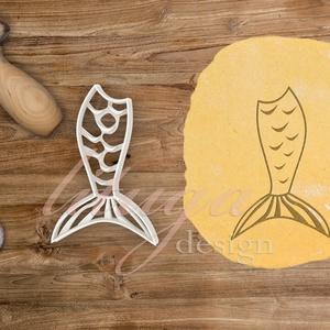 Sellőfarok süteménykiszúró, linzer, mézeskalács forma, keksz forma, Otthon & Lakás, Sütikiszúró, Konyhafelszerelés, Sellőfarok süteménykiszúró forma, bb. 10 cm magas    Több hasonló tengeri kütyü és kis hableány is k..., Meska