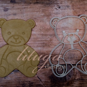 Teddy mackó süteménykiszúró forma - Medve, Mackó, Medvebocs süteménykiszúró forma, Sütikiszúró, Konyhafelszerelés, Otthon & Lakás, Fotó, grafika, rajz, illusztráció, Mindenmás, Klasszikus ülő teddy mackót, medvét, medvebocsot formázó sütemény kiszúrót / szaggatót készítettünk...., Meska