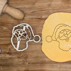 Mikulás fej, Télapó fej sütemény linzer keksz kiszúró forma - karácsonyi, mézeskalács (FEJ), Otthon & Lakás, Sütikiszúró, Konyhafelszerelés, Mikulás sütemény keksz linzer mézeskalács forma  A közelgő télre és téli ünnepekre készülünk már ezz..., Meska