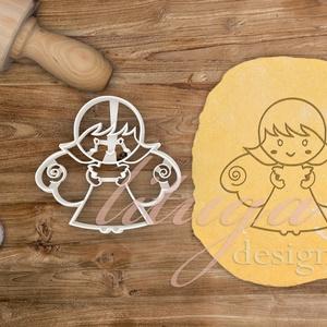 Angyal süteménykiszúró forma, angyalka mézes - mézeskalács forma, Otthon & Lakás, Sütikiszúró, Konyhafelszerelés, Angyal formájú, angyalka sütemény forma, mely saját rajz alapján készült.  Kislányoknak szeretnék ör..., Meska