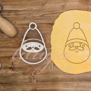 Mikulás, télapó fej (2017) sütemény linzer keksz kiszúró forma - karácsony mézeskalács, Sütikiszúró, Konyhafelszerelés, Otthon & Lakás, Fotó, grafika, rajz, illusztráció, Mindenmás, Jópofa télapó fej sütemény keksz linzer mézeskalács kiszúró forma. Csak körvonalat kivágó formát vag..., Meska