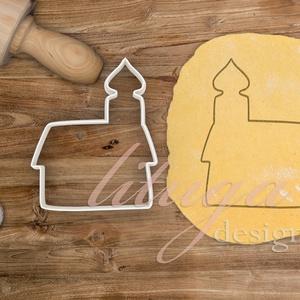 Templom mézeskalács sütemény linzer keksz kiszúró forma - mézeskalács szaggató, Konyhafelszerelés, Otthon & lakás, Mindenmás, Mézeskalácssütés, Egytornyos kis templom körvonalát formázó sütemény kiszúró, mézeskalács szaggató forma. Kb. 10 cm ma..., Meska