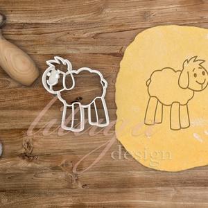 Bárány kiszúró - Húsvéti sütemény linzer keksz kiszúró forma, Otthon & Lakás, Sütikiszúró, Konyhafelszerelés, Húsvétra is nagyszerű ez az aranyos bárány alakú sütemény kiszúró / szaggató forma, amely kb. 8 cm m..., Meska