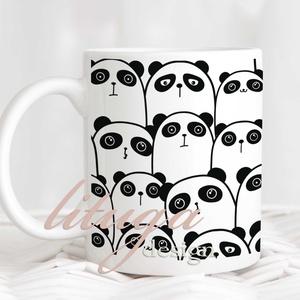 Pandás kerámia bögre, Ajándék ötlet panda kedvelőknek, Bögre fekete-fehér pandamackó mintával (BWPP001), Otthon & lakás, Konyhafelszerelés, Bögre, csésze, Fotó, grafika, rajz, illusztráció, Mindenmás, Fekete-fehér pandás bögre. Egyedi pandás bögre pandamacik kedvelőinek. \n\n\nA színek különböző monitor..., Meska