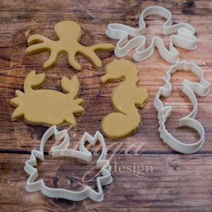 Tengeri szett (2) süteménykiszúró, linzer, mézeskalács forma, keksz forma, Otthon & Lakás, Sütikiszúró, Konyhafelszerelés, Tengeri állatokat formázó mézeskalács kiszúró / szaggató , linzer, keksz forma szett.   A szett tart..., Meska