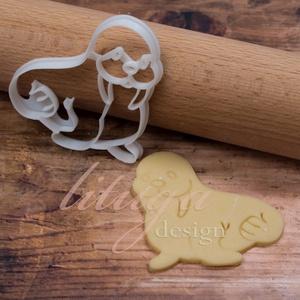 Rozmár süteménykiszúró, fóka süteménykiszúró, mézeskalács forma, keksz, linzer kiszúró (lituga) - Meska.hu
