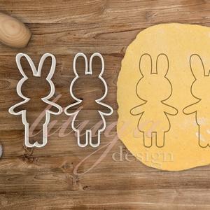 Nyúl pár süteménykiszúró, nyuszi pár körvonal Nyúl lány és nyúl fiú kiszúró - Húsvéti sütemény linzer keksz kiszúró, Konyhafelszerelés, Otthon & lakás, Húsvéti díszek, Ünnepi dekoráció, Dekoráció, Mindenmás, Mézeskalácssütés, Húsvétra készült nyuszifiút és szoknyás nyuszilányt formázó  sütemény kiszúró / szaggató forma szett..., Meska