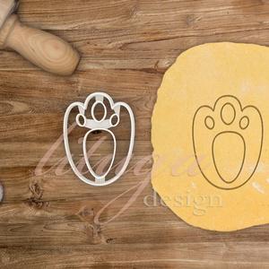 Nyuszitappancs süteménykiszúró mézeskalács szaggató forma - Húsvéti sütemény linzer keksz kiszúró, Otthon & Lakás, Sütikiszúró, Konyhafelszerelés, Húsvétra készült nyuszkó tappancsok sütemény kiszúró / szaggató forma.   Az alábbi méretekben elérhe..., Meska