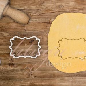 """""""Lilly"""" vintage tábla (8-as) süteménykiszúró, kekszkiszúró mézeskalács forma, Otthon & Lakás, Sütikiszúró, Konyhafelszerelés, """"Lilly"""" fantázianevű, szép íves szélű, vintage táblácskát formázó sütemény kiszúró / szaggató, keksz..., Meska"""