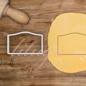 """""""Ronny"""" vintage tábla (5-ös) süteménykiszúró, kekszkiszúró linzer, mézeskalács szaggató forma, Otthon & Lakás, Sütikiszúró, Konyhafelszerelés, """"Ronny"""" fantázianevű, íves, vintage táblát formázó sütemény kiszúró / szaggató, kekszkiszúró, mézesk..., Meska"""