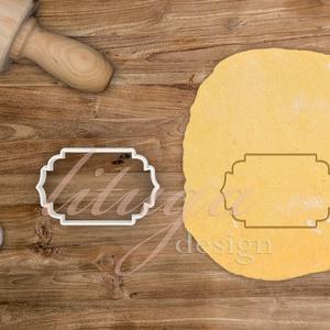 """""""Sally"""" vintage tábla (11-es) süteménykiszúró, kekszkiszúró linzer, mézeskalács szaggató forma, Otthon & Lakás, Sütikiszúró, Konyhafelszerelés, """"Sally"""" fantázianevű, szép íves, """"cikornyás"""" vintage táblát formázó sütemény kiszúró / szaggató, kek..., Meska"""