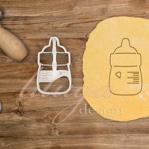 Cumisüveg -  Babaváró egyedi sütemény kiszúró forma, Otthon & Lakás, Sütikiszúró, Konyhafelszerelés, Különleges, egyedi babaváró, kisbaba érkezését ünneplő, jelképező sütemény kiszúró, kekszkiszúró for..., Meska