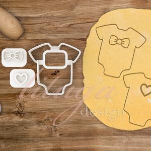 Body, rugdalózó, rugi -  Babaváró egyedi sütemény kiszúró forma, Konyhafelszerelés, Otthon & lakás, Gyerek & játék, Fotó, grafika, rajz, illusztráció, Mindenmás, Különleges, egyedi babaváró, kisbaba érkezését ünneplő, jelképező sütemény kiszúró, kekszkiszúró for..., Meska