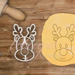 Rénszarvas fej sütemény linzer keksz kiszúró forma - karácsony mézeskalács, Otthon & Lakás, Sütikiszúró, Konyhafelszerelés, Rénszarvas kekszkiszúró, szarvasfej kekszkiszúró, szarvas süteménykiszúró, szarvas mézeskalács forma..., Meska