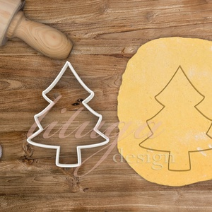 Fenyőfa, karácsonyfa sütemény linzer keksz kiszúró forma - fenyőfa mézeskalács (csak körvonal - 3-as), Sütikiszúró, Konyhafelszerelés, Otthon & Lakás, Fotó, grafika, rajz, illusztráció, Mindenmás, Egyszerű fenyőfa, karácsonyfa süteménykiszúró, kekszkiszúró, linzer vagy mézeskalács forma - csak kö..., Meska