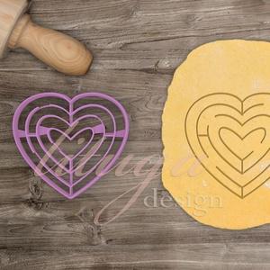 Szív labirintus süteménykiszúró - Szerelem, szeretet, egyedi esküvői sütemény kiszúró Valentin napra, Esküvő, Konyhafelszerelés, Otthon & lakás, Szerelmeseknek, Ünnepi dekoráció, Dekoráció, Fotó, grafika, rajz, illusztráció, Mindenmás, Esküvőre, eljegyzésre, házassági évfordulóra készültök? Legyen a Nagy Nap még emlékezetesebb egyedi ..., Meska