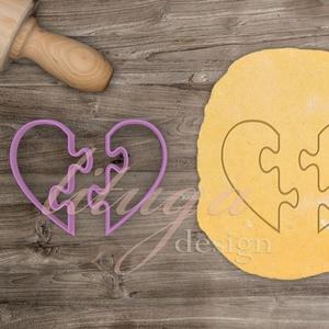 SZÍV PUZZLE süteménykiszúró - Szerelem, szeretet, egyedi esküvői sütemény kiszúró Valentin napra, Sütikiszúró, Konyhafelszerelés, Otthon & Lakás, Mindenmás, Mézeskalácssütés, Esküvőre, eljegyzésre, házassági évfordulóra készültök? Legyen a Nagy Nap még emlékezetesebb egyedi ..., Meska