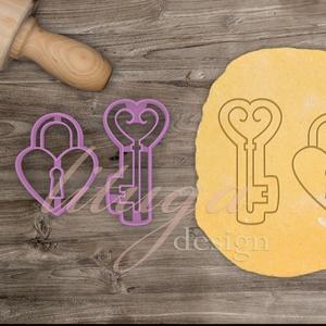 A kulcs a szívedhez - Szerelem, szeretet, egyedi esküvői sütemény kiszúró Valentin napra, Otthon & Lakás, Sütikiszúró, Konyhafelszerelés, Add a kulcsot a szívedhez a kezébe...mondjuk linzertésztából...miért ne? ;-)   Míves kulcs és szívla..., Meska