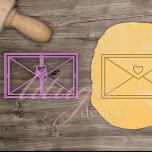 """Szerelmes levél süteménykiszúró - Szerelem, szeretet, egyedi esküvői sütemény kiszúró Valentin napra, Sütikiszúró, Konyhafelszerelés, Otthon & Lakás, Mindenmás, Mézeskalácssütés, Érzelmeidet fejezd ki sütikkel (is) ;-)\n\n\""""Azok a régi szép idők\"""" ihlették e kedves kis formát, amiko..., Meska"""