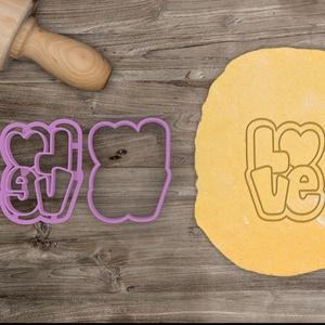 LOVE (2) - Szerelem, szeretet, egyedi esküvői sütemény kiszúró Valentin napra, Sütikiszúró, Konyhafelszerelés, Otthon & Lakás, Fotó, grafika, rajz, illusztráció, Mindenmás, Love feliratot formázó sütemény kiszúrót készítettünk, a szerelem, szeretet jegyében :)\n\nCsak a körv..., Meska
