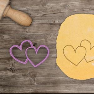 Dupla szív süteménykiszúró - Szerelem, szeretet, egyedi esküvői kekszkiszúró süteménykiszúró Valentin napra, Esküvő, Otthon & lakás, Konyhafelszerelés, Dekoráció, Ünnepi dekoráció, Szerelmeseknek, Fotó, grafika, rajz, illusztráció, Mindenmás, Esküvőre, eljegyzésre, házassági évfordulóra készültök? Legyen a Nagy Nap még emlékezetesebb egyedi ..., Meska