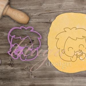 Zombi lány kekszkiszúró süteménykiszúró - Egyedi kekszkiszúró süteménykiszúró, Otthon & Lakás, Sütikiszúró, Konyhafelszerelés, Zombi lányt formázó kekszkiszúró, vicces sütikiszúró, Halloween-re sem utolsó darab, de én Valentin ..., Meska